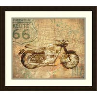 Framed Art Print 'American Rider Morotcycle' by Andrew Sullivan 24 x 21-inch