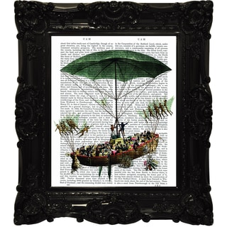 Empire Art 'Up, Up and Away 1' Canvas Giclee Under Glass with High-gloss Baroque Frame