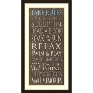 Framed Art Print 'Lake Rules' by Holly Stadler 19 x 35-inch