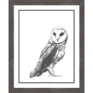 Framed Art Print 'Wildlife Snapshot: Owl' by Naomi McCavitt 25 x 31-inch