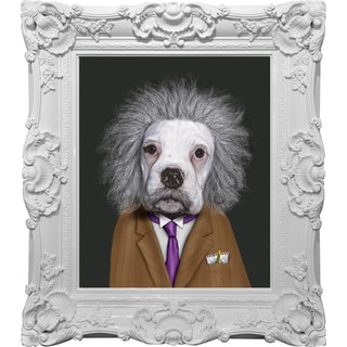 Empire Art Pets Rock 'Brain' Canvas Giclee Under Glass with High-gloss Baroque Frames