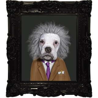 Empire Art Pets Rock 'Brain' Canvas Giclee with Baroque Frames