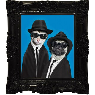 Empire Art Pets Rock 'Brothers' Canvas Giclee with Baroque Frames
