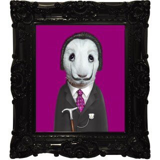 Empire Art Pets Rock 'Surreal' Canvas Giclee Under Glass with High Gloss Baroque Frame