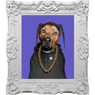 Empire Art Pets Rock 'Rap' Canvas Giclee with Baroque Frames