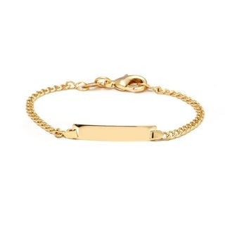 Goldplated Plain Baby Id Bracelet