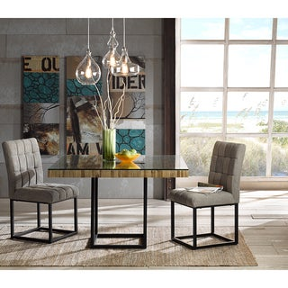 INK+IVY Stellar Taupe/Gunmetal Dining Chair (Set of 2)