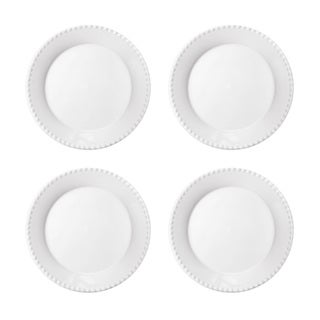Hamilton Beaded Off White Dinner Plates (Pack of 4)