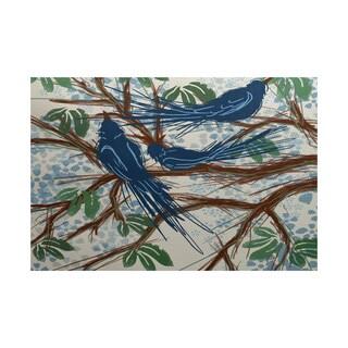 Jays Floral Print Indoor/ Outdoor Rug (3' x 5')