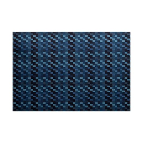 Mad for Plaid Geometric Print Indoor/ Outdoor Rug - 3' x 5'