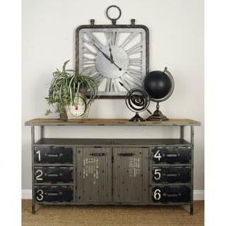 Industrial Metal Wood Buffet