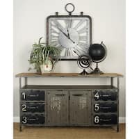 """56"""" x 30"""" Industrial Repurposed Metal Utility Cabinet by Studio 350"""