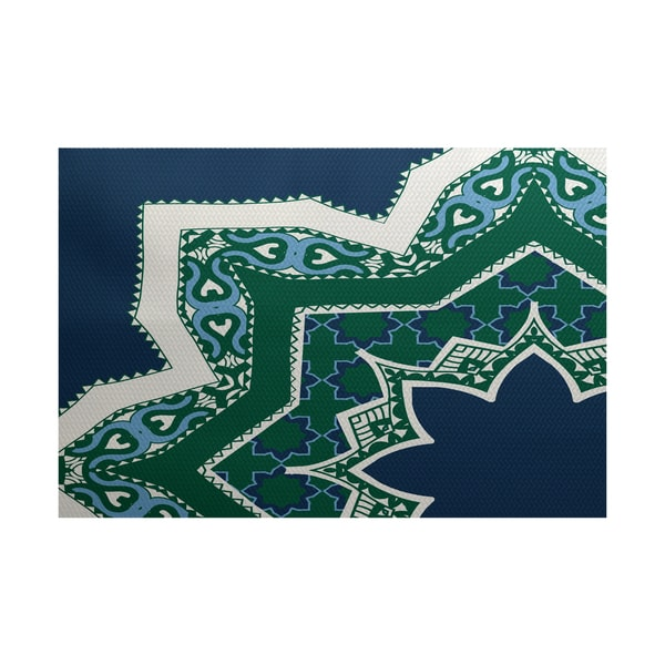 Rising star geometric print indoor outdoor rug 3 39 x 5 for Geometric print area rugs
