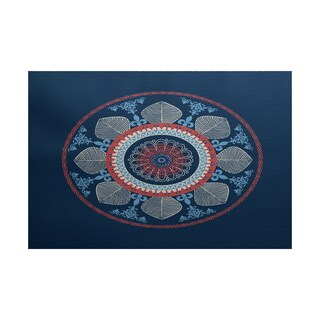 Stained Glass Geometric Print Indoor/ Outdoor Rug (3' x 5')