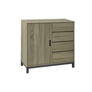 Brassex Light Walnut 4-Drawer Buffet