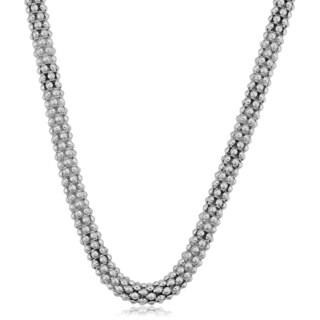 Argento Italia Sterling Silver 6-mm Popcorn Chain Necklace (18 inch)