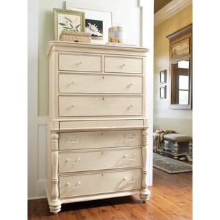Paula Deen Home Tall Linen White 8-drawer Chest