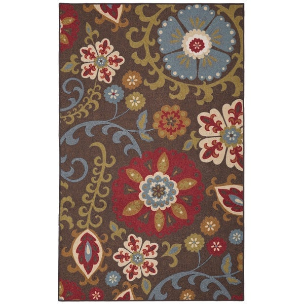 Mohawk Home Escape Folk Floral Light Multi Area Rug 8 X