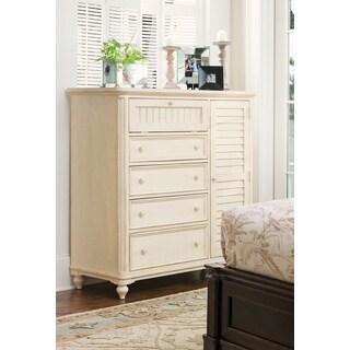 Paula Deen Home 5-drawer Door Chest in Linen Finish