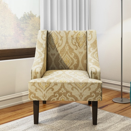 Porch U0026 Den Lyric Swoop Arm Accent Chair