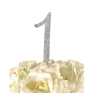 Sparkling Collection Rhinestone Number 1 Wedding Cake Topper