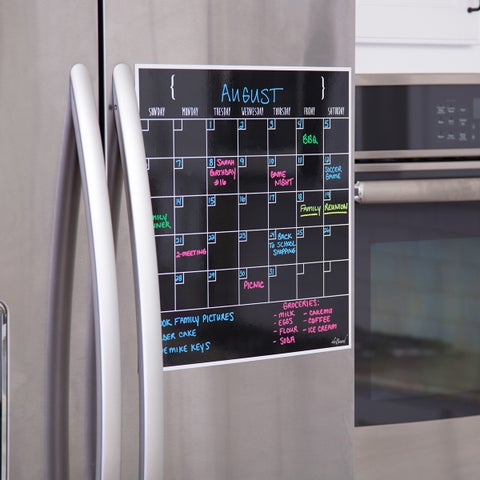 Large 15-Inch x 15-Inch Dry Erase Monthly Calendar Magnet