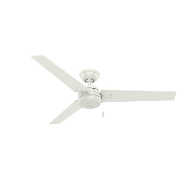 62e9728480a Hunter Fan Cassius Fresh White Stainless Steel 52-inch Ceiling Fan With 3  Reversible Blades