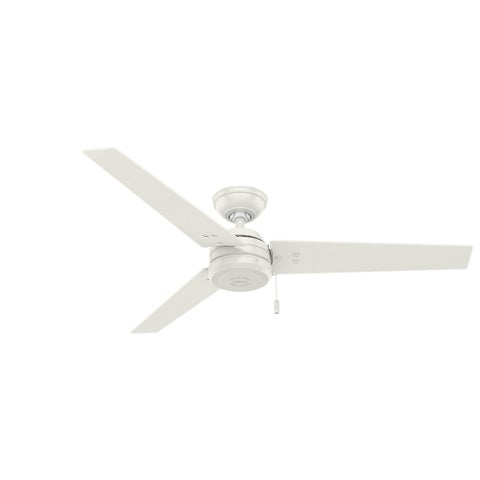 Hunter Fan Cassius Fresh White Stainless Steel 52-inch Ceiling Fan With 3 Reversible Blades