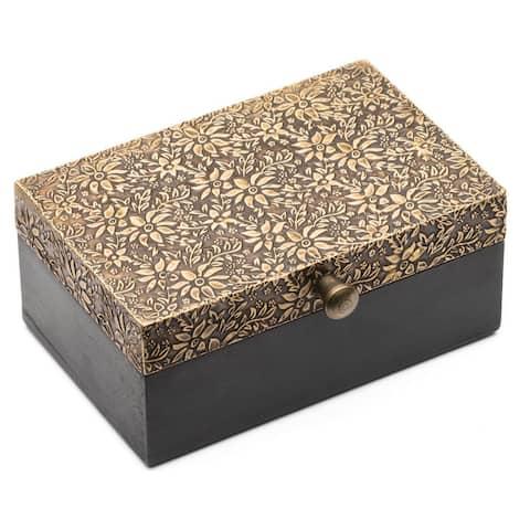 Handmade Golden Treasure Box - Small (India)