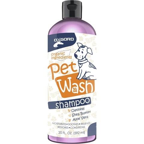 100-percent Natural OxGord Organic Oatmeal Dog Shampoo & Conditioner-20 oz