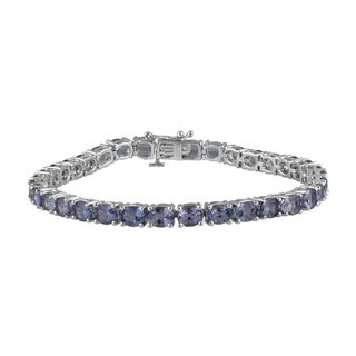 Sterling Silver Tanzanite Fashion Bracelet