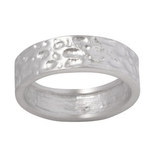 NEXTE Jewelry Hammered Nugget Wedding-style Band (More options available)