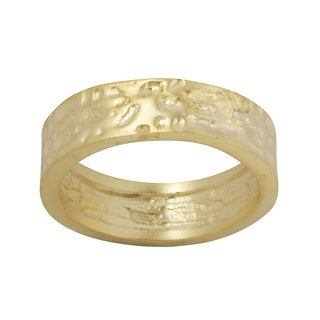 NEXTE Jewelry Hammered Nugget Wedding-style Band