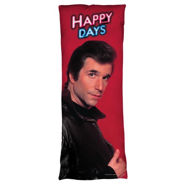 Happy Days/Red Fonz Plush Fleece Body Pillow