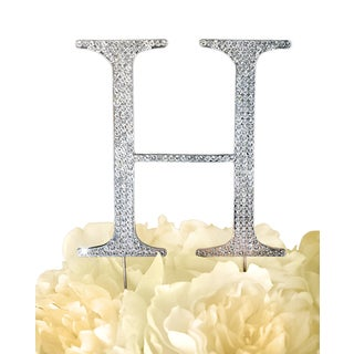 Unik Occasions Collection Rhinestone Wedding Cake Topper - Letter H