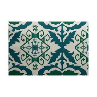 Bombay 6 Geometric Print Indoor/ Outdoor Rug (4' x 6')