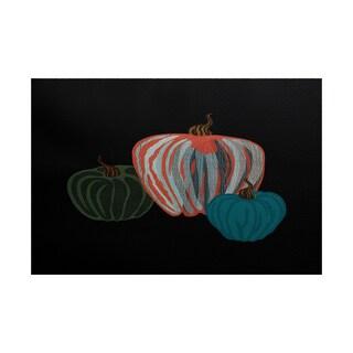 Pumpkin Spice Geometric Print Indoor/ Outdoor Rug (4' x 6')