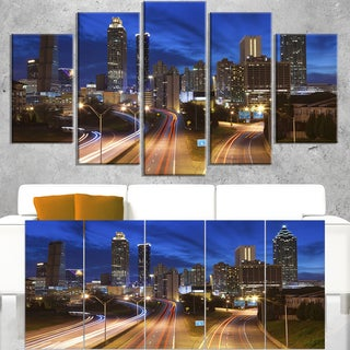 Atlanta Skyline Twilight Blue Hour - Cityscape Canvas print