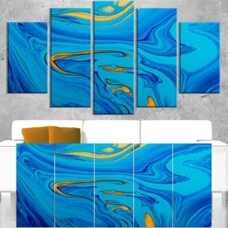 Light Blue Abstract Acrylic Paint Mix - Abstract Art on Canvas