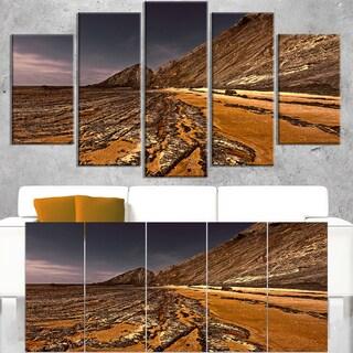 Brown Rocky Coast Portugal - Cityscape Canvas print