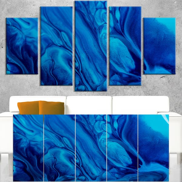 Shop Dark Blue Abstract Acrylic Paint Mix Abstract Art On