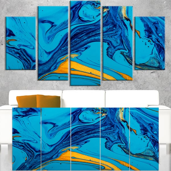 Soft Blue Abstract Acrylic Paint Mix Abstract Art On Canvas On Sale Overstock 12226379