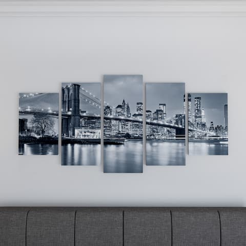 Carbon Loft 'Panorama New York City at Night' Cityscape Canvas Print