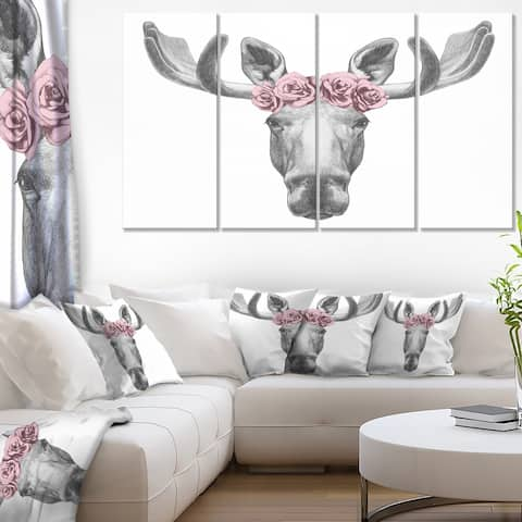 Silver Orchid Moose with Floral Head Wreath
