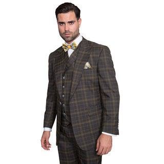 Sorento Men's Charcoal Wool Statment Suit