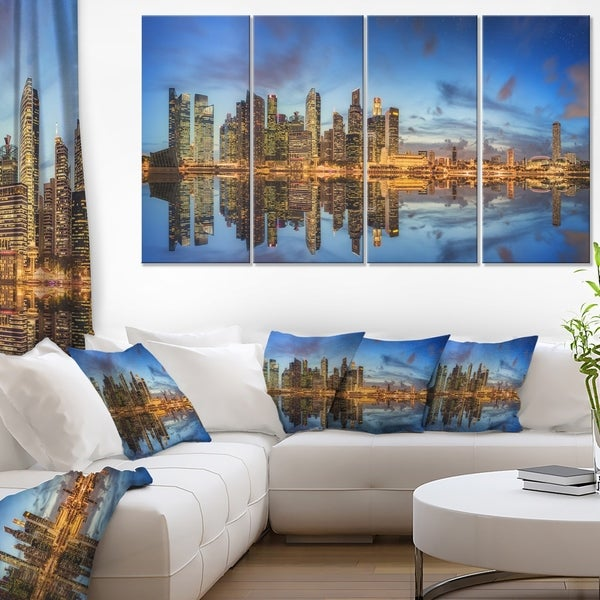 Singapore Skyline and View of Marina Bay - Cityscape Canvas print