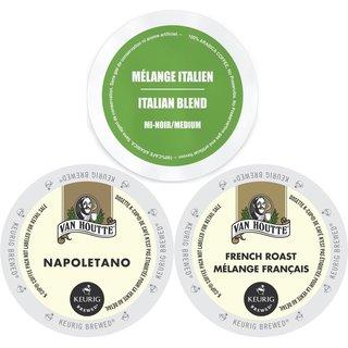Van Houtte European Coffee K-Cup Variety 72-pack with Van Houtte Napoletano & French Roast, Faro Italian Medium Roast