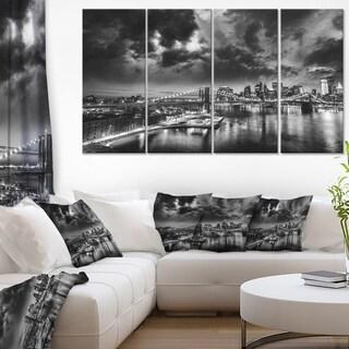 Amazing Night in New York City - Cityscape Canvas print