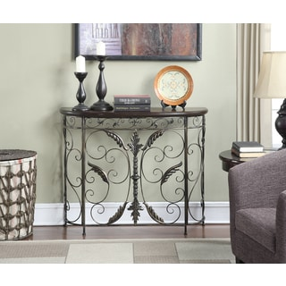 Convenience Concepts Wyoming Wood and Metal Console Table