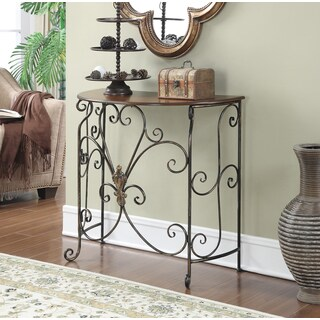 Convenience Concepts Wyoming Wood and Metal Entryway Table